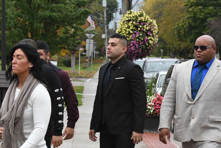 Nauman Hussain, 29, the operator of the limousine company involved in the Oct. 6 crash that killed 20 people, arrives in Schoharie County Court Wednesday for a pre-trial conference. Photo: Will Waldron / Times Union