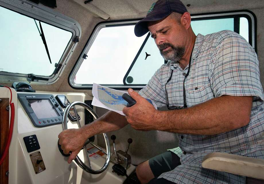 Bill Lucey, the Long Island Soundkeeper, has docked his research boat at Captain's Cove since 2018. Photo: Melanie Stengel / C-Hit.org