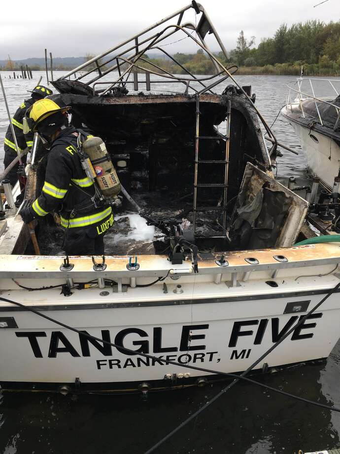A boat caught fire in North Star Marina, also damaging a nearby boat. Photo: (Courtesy Photo)