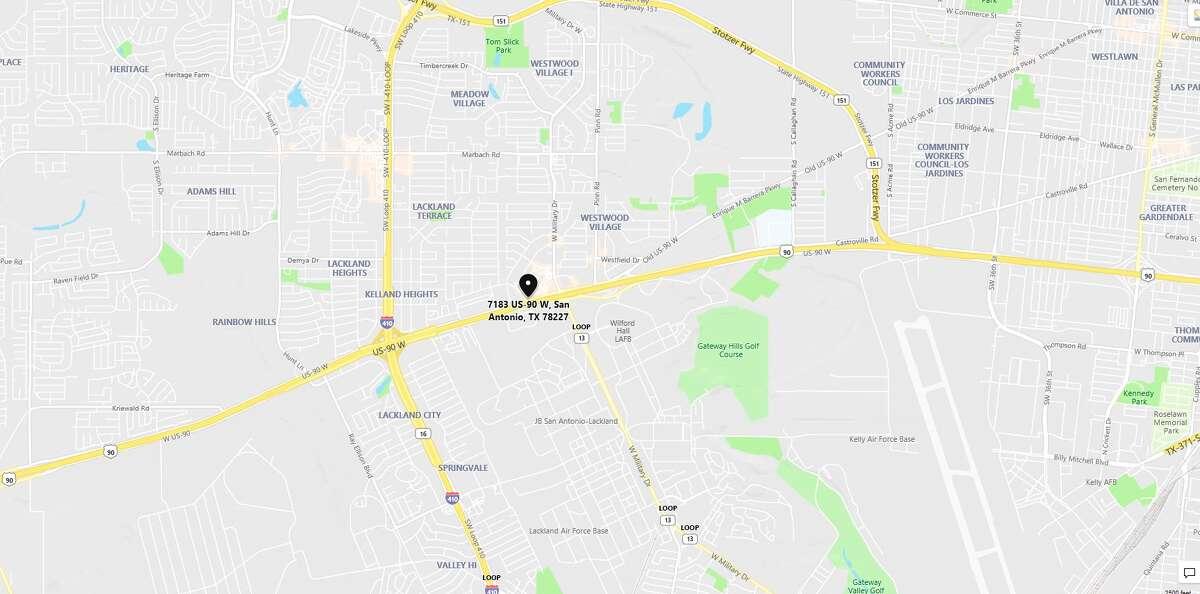 SAPD is investigating after a man's girlfriend's ex stabbed him in an argument. The map shows the area in which the alleged incident occurred.