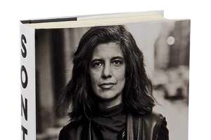 "The cover and spine of Benjamin Moser's new biography of Susan Sontag, ""Sontag: Her Life and Work,"" in New York, Aug. 24, 2019. The book explores the person beneath the public persona of the formidable 20th-century public intellectual, essayist, novelist and political activist. (Sonny Figueroa/The New York Times)"