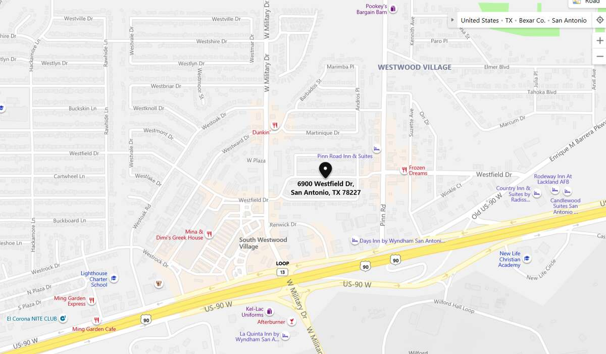 San Antonio police are searching for a suspect who they said slashed a man with a machete in a seemingly random attack. The maps shows the area the alleged incident occurred.