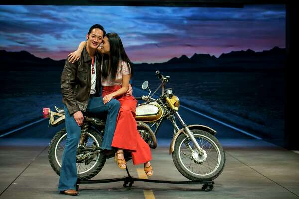 """Actors Edward Chin-Lyn and Kim Wong of """"Vietgone,"""" a play by director Desdemona Chiang on Sunday, September 29, 2019, at the Neuhaus Theater in downtown Houston."""