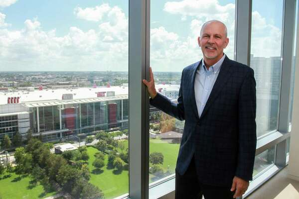 Jeff Shellebarger, conference chairman of The World Petroleum Congress, at Hess Tower on September 30, 2019. The World Petroleum Congress is a triennial event bringing together the top oil companies and officials, and returns to Houston in 2020 for the first time in more than 30 years,