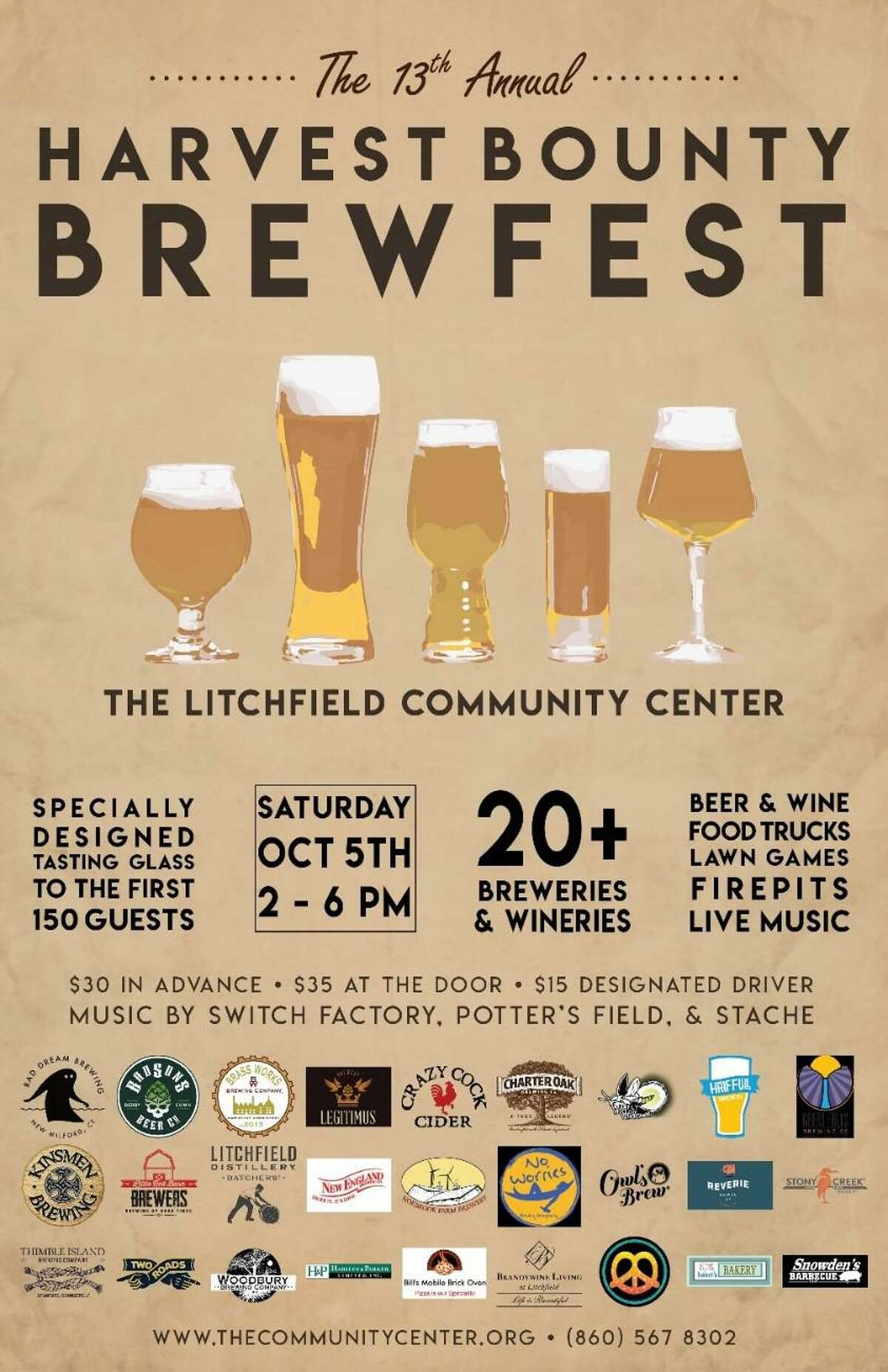 BrewFest at the Litchifeld Community Center is set for Oct. 5.