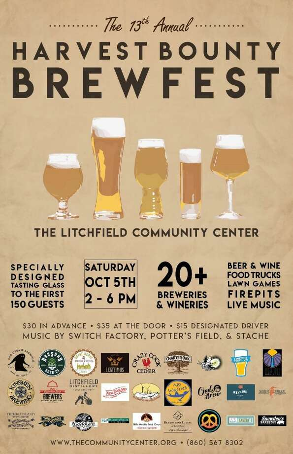 BrewFest at the Litchifeld Community Center is set for Oct. 5. Photo: Contributed Photo