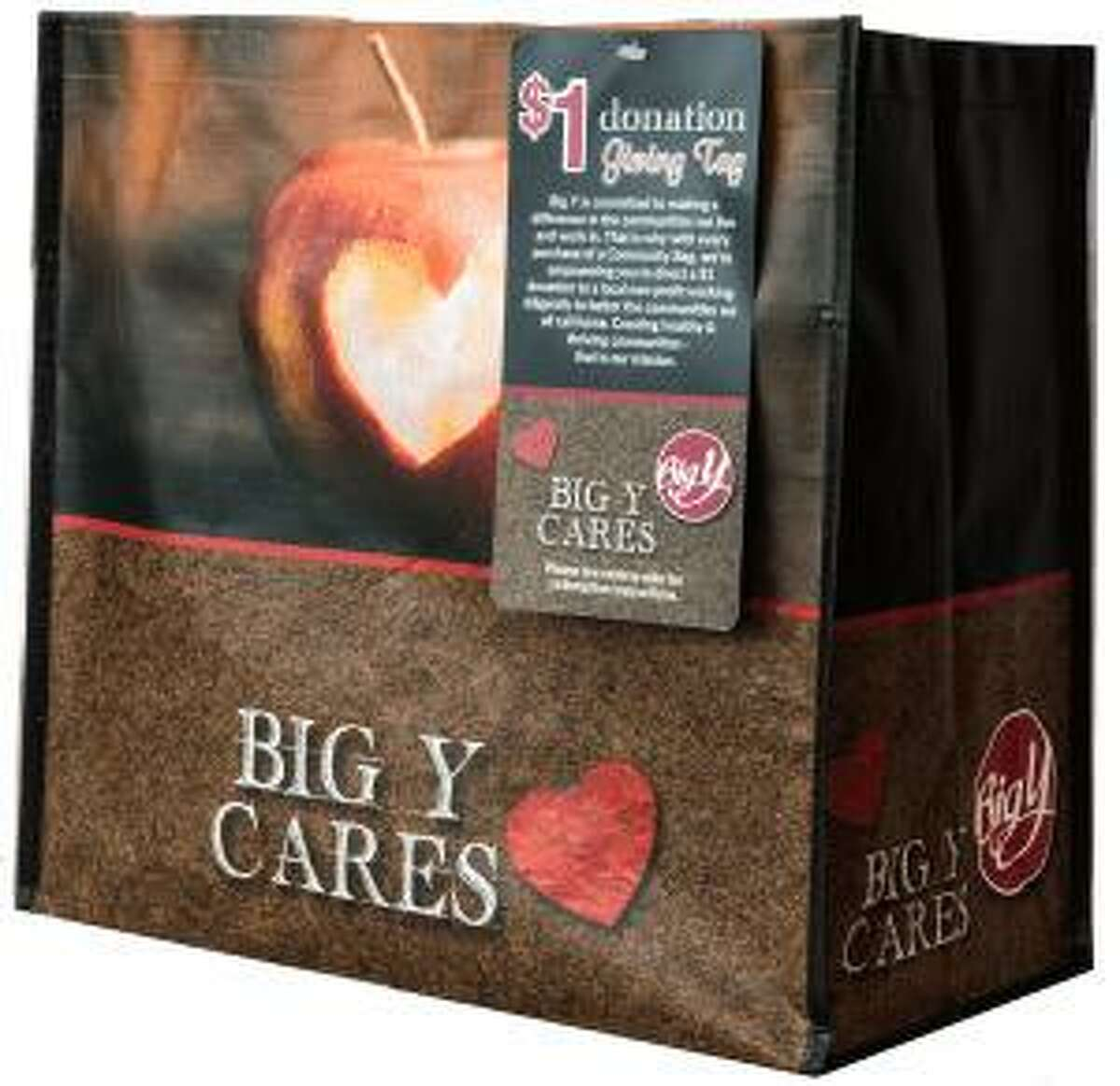 Area grocery stores including Big Y and Stop & Shop are selling grocery bags to benefit Charlotte Hungerford Hospital's Pink Rose Fund.