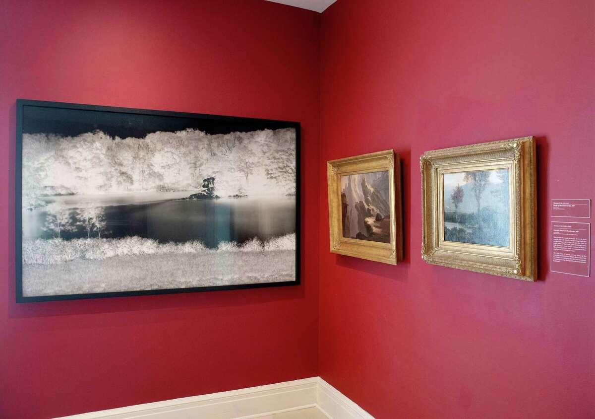 Shi Guorui, Catskill Creek, New York, February 6-7, 2019. Unique camera obscura gelatin silver print. Installation photo by Wm Jaeger