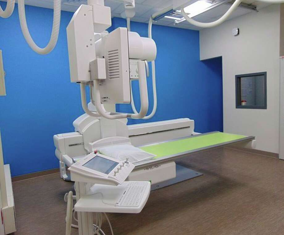 The new x-ray room offers improved patient privacy and reduced risk of injury to staff and patients during patient care maneuvering. (Submitted Photo) / Copyright 2009