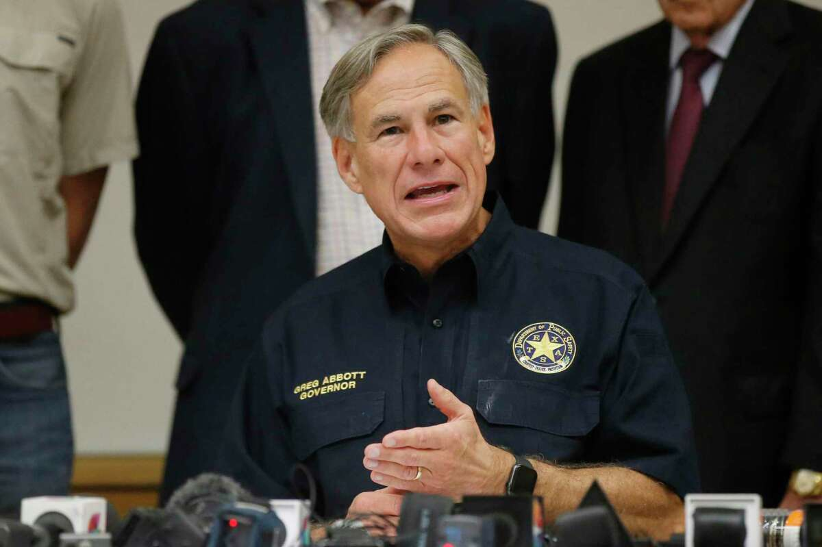 Texas Governor Greg Abbott speaks during a news conference in Sunday, September. (AP Photo/Sue Ogrocki)