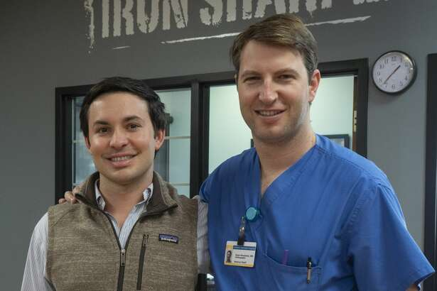 Dr Gage Liesman and Midland High graduate Dr. Ryan Rowland, orthopedic surgeons 10/02/19 at Urgent Orthopedic Specialists and Rowland is now the team doctor for MHS football. Tim Fischer/Reporter-Telegram