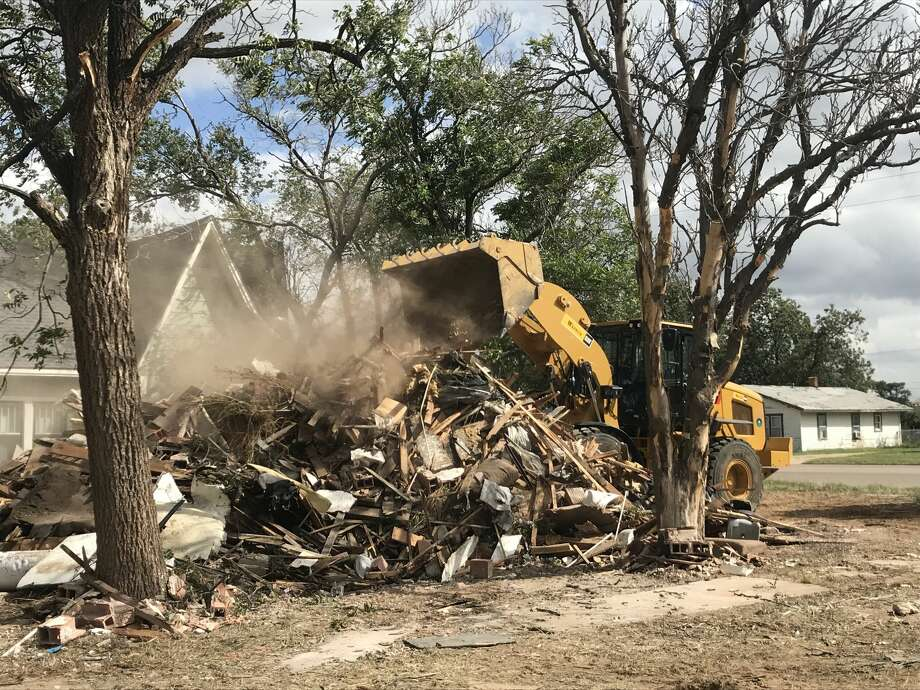 The first structure to be demolished under new Minimum Housing/Dangerous Building Codes is at 1310 W. 11th St. Photo: Courtesy Photo/City Of Plainview