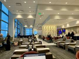 A look inside the Delta Sky Club at SFO.