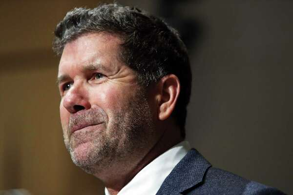 Former Seattle Mariner Edgar Martinez is honored by King County Council for his recent induction into the MLB Hall of Fame, Wednesday, Oct. 2, 2019. Martinez played 18 seasons with the Mariners and has remained in the Puget Sound region into retirement.