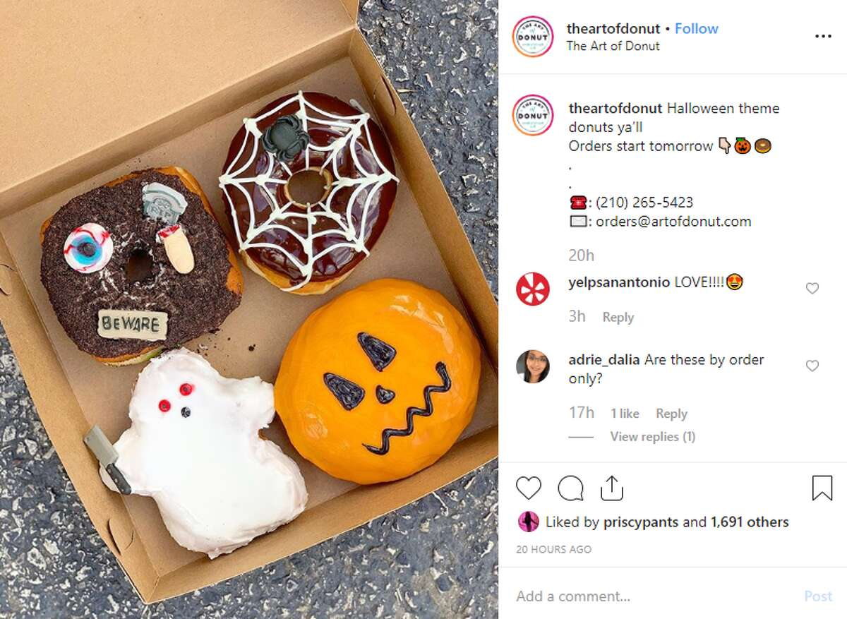 The Art of Donuts Halloween-themed donuts 3428 N. St. Mary's St.