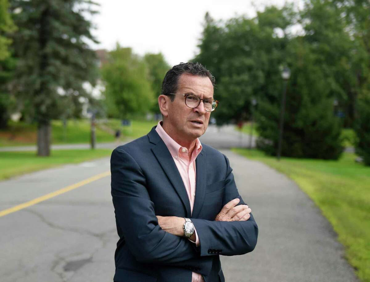 University of Maine Chancellor Dannel P. Malloy, the former Governor of Connecticut, walks the University of Maine main campus in Orono, Maine on Monday, Aug. 26, 2019.