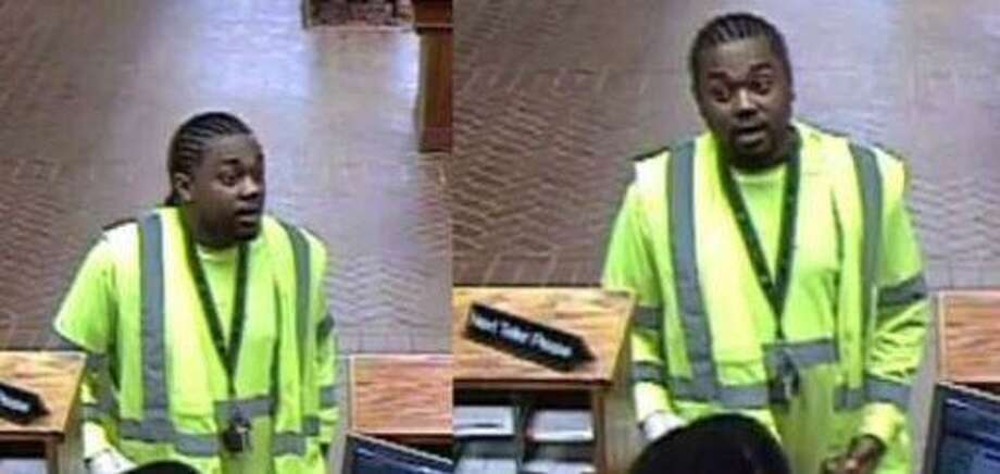 The man pictured is wanted by police for allegedly stealing $25,000 from a Woodloch resident's bank account. Photo: Courtesy Of The Montgomery County Sheriff's Office