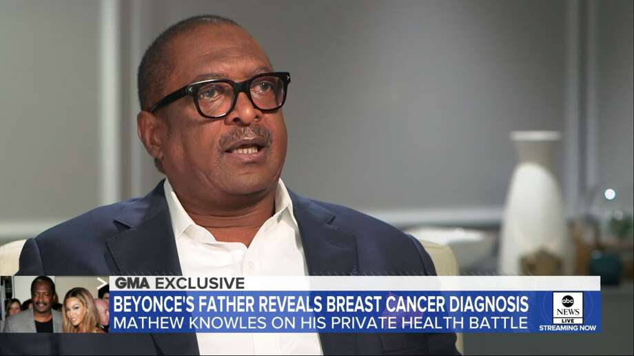Matthew Knowles has revealed he has breast cancer. Photo: GMA Screenshot