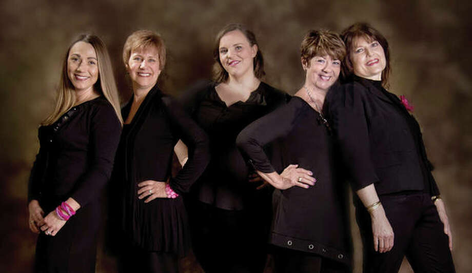(L-R): Love, Loss, and What We Wore cast members Dianna Pallas, Donna Wilson, Christy Luster, Carol Hodson, Debbie Maneke.