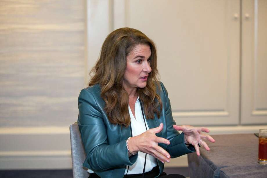 Melinda Gates visits San Francisco in May to promote her new book, The Moment of Lift: How Empowering Women Changes the World. Photo: Angela Lang/CNET
