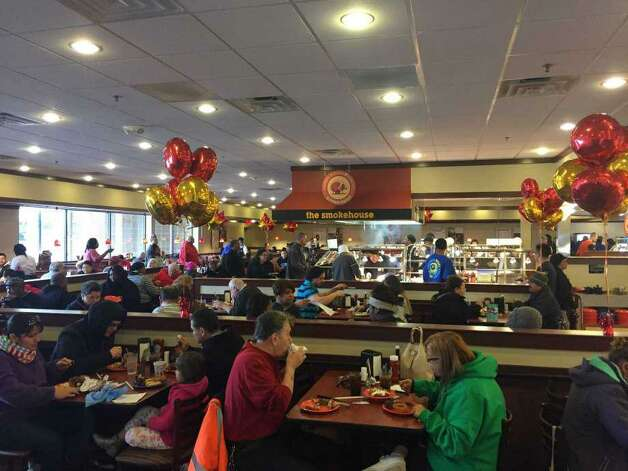 """Golden CorralMultiple Houston-area locationsDate: Monday, Nov. 11, 2019  On Monday, November 11th, 2019 from 5 PM to 9 PM, Golden Corral offers a free sit-in """"thank you"""" dinner for Military veterans, retirees, and active duty members.  Photo: Hearst Connecticut Media File"""