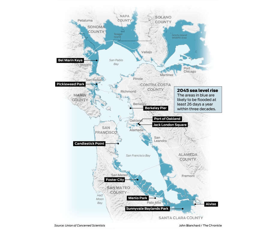 Bay Area Sea Level Rise What We Ll Lose At The Water S Edge