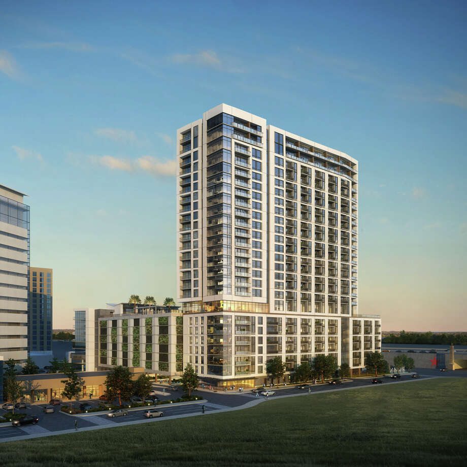 MetroNational has broken ground on a 25-story apartment building in Memorial City. The McKinley Memorial City is on the southwest corner of Bunker Hill Road and the Katy Freeway. Photo: MetroNational
