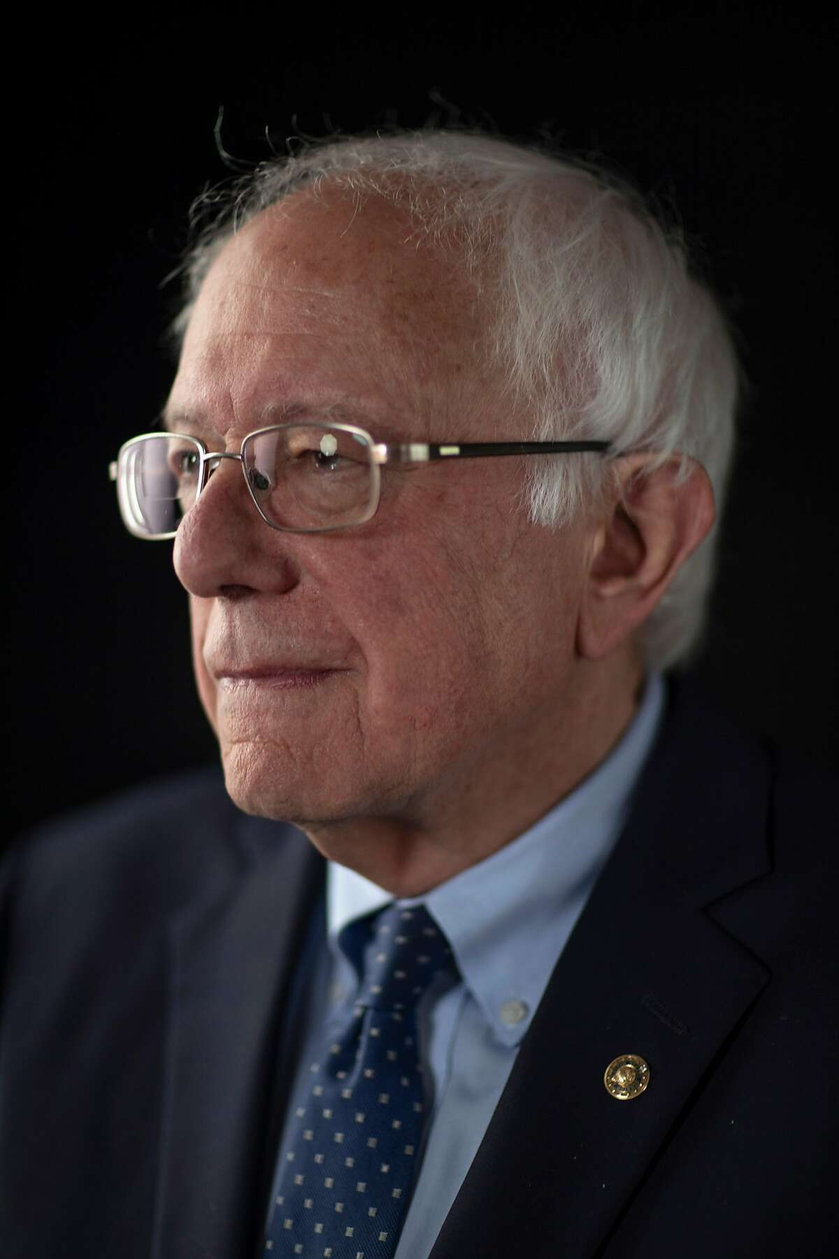 FILE -- Sen. Bernie Sanders (I-Vt.), a candidate for the Democratic presidential nomination, in Cedar Rapids, Iowa, on June 8, 2019. Sanders is being treated for an artery blockage and canceling his events for the coming days, a campaign official said on Wednesday, Oct. 2, 2019. (Tony Cenicola/The New York Times)