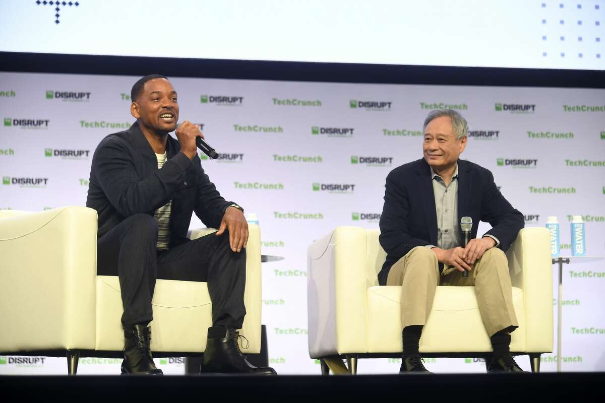 SAN FRANCISCO, CALIFORNIA - OCTOBER 02: (L-R) Actor/Producer/Musician Will Smith and Producer & Director Ang Lee speak onstage during TechCrunch Disrupt San Francisco 2019 at Moscone Convention Center on October 02, 2019 in San Francisco, California. (Photo by Steve Jennings/Getty Images for TechCrunch)
