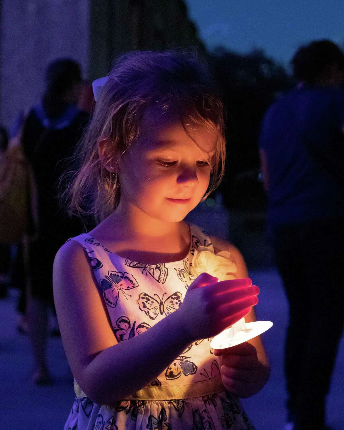 The Houston Area Women's Center hosted a candle-it vigil at City Hall to raise awareness about domestic violence Monday, Sep 30, 2019, in Houston.