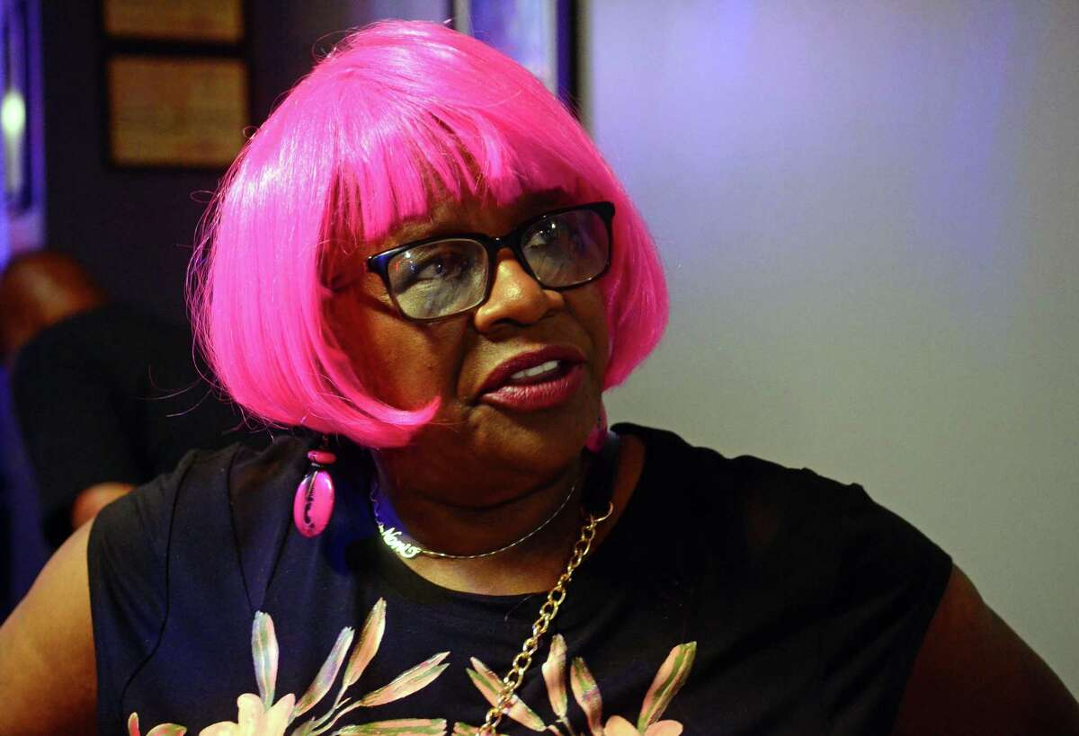 Senator Marilyn Moore holds a fundraiser for her new write-in mayoral campaign at Blvd Karaoke in Bridgeport, Conn., on Wednesday Oct. 2, 2019.