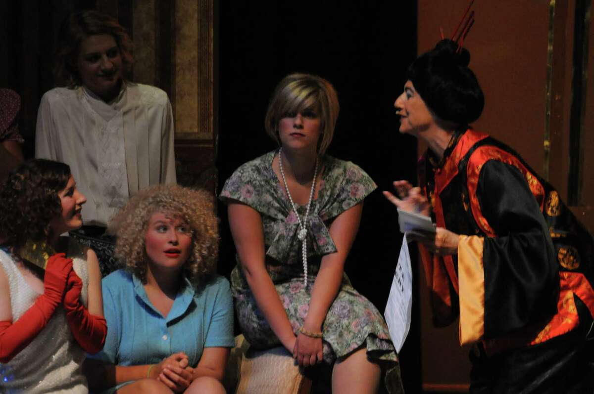 """ROARING TWENTIES: Cast members from STAGE-M's production of """"Thoroughly Modern Millie"""" rehearse a scene on Monday. The musical is set in 1922 and tells the story of a small town girl who moves to New York City. (Pioneer photo/Kyle Leppek)"""
