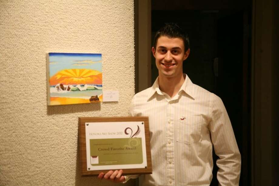 """PEOPLE'S CHOICE: Matthew Agnone was selected as the """"People's Choice"""" winner for his acrylic painting titled """"What Makes You Smile."""""""