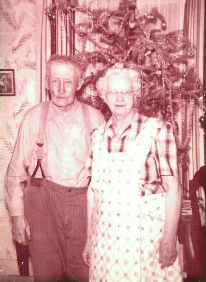 """This is Calvin and Olive Palmer, Doris' paternal grandparents. Doris said, """"No one ever left their houses hungry and Grandma did all the cooking on a wood stove."""" (Photo provided/Virginia Florey)"""