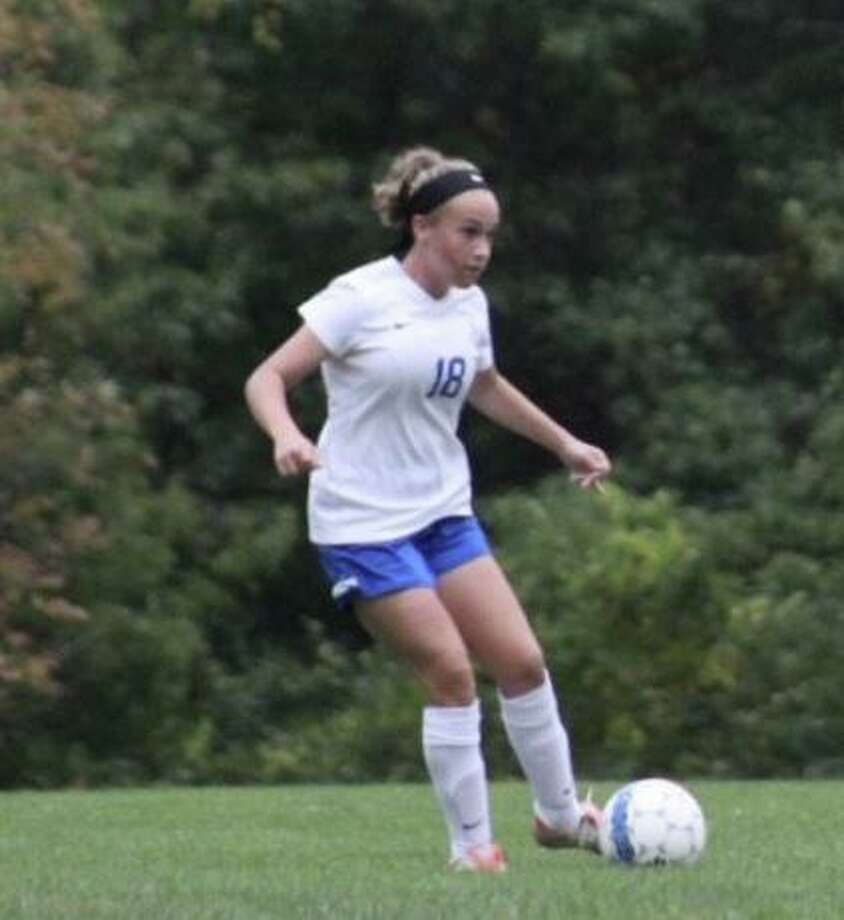 Sarah Ramadanovic scored the first two goals in CHS' 5-0 win against Watkinson School. Photo: Contributed Photo / Christian Heritage Athletics / Trumbull Times