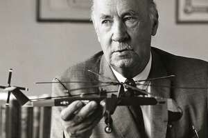 An undated file photo of Igor Sikorsky (1889-1972), the Russian born aviation pioneer and founder of Stratford based Sikorsky Aircraft.