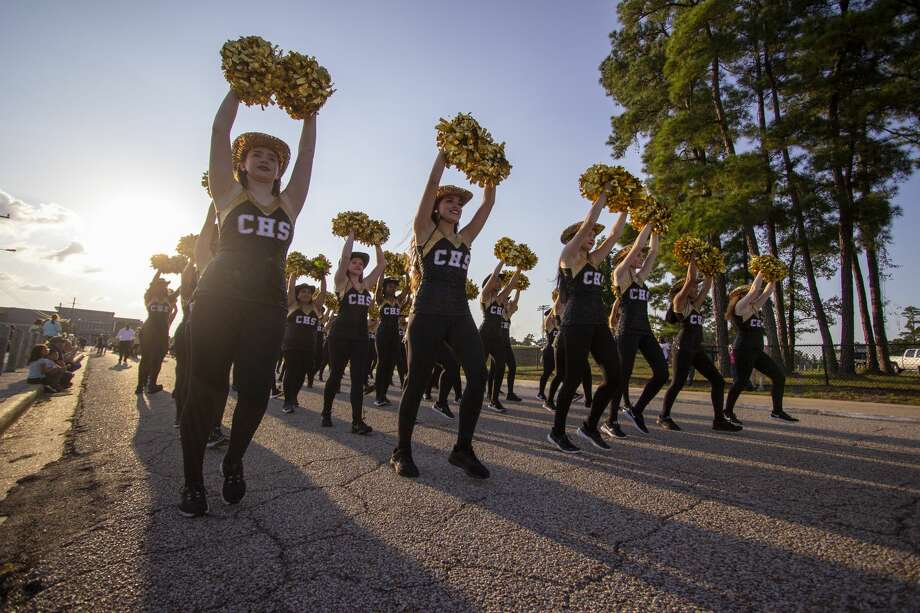 The Conroe High School Golden Girls perform during the Conroe High School homecoming parade Wednesday, October 2, 2019 near Moorehead Stadium in Conroe. Conroe High School's homecoming game aganst Klein High School is scheduled for 7 p.m. Friday at Moorehead Stadium. Photo: Cody Bahn/Staff Photographer