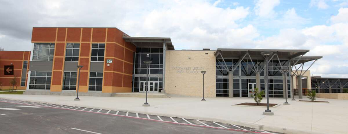 Two Southwest ISD schools are under lockdown as several law enforcement agencies search for a suspect nearby.