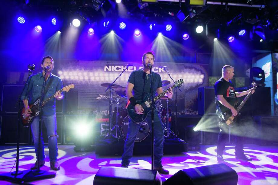 From left to right: Ryan Peake, Chad Kroeger, Daniel Adair and Mike Kroeger of the Canadian rock band Nickelback. Photo: Nathan Congleton/NBC/NBCU Photo Bank Via Getty Images