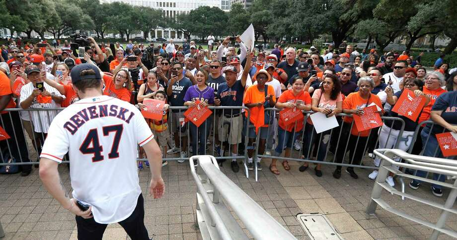 PHOTOS: A look at the Astros' rally outside City Hall