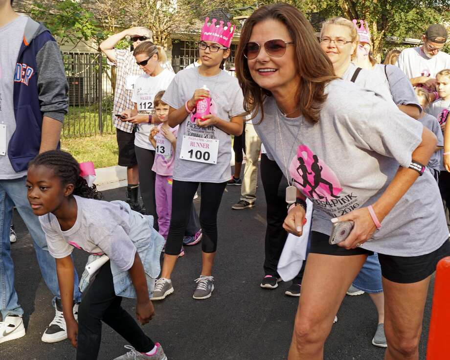 People participate in a previous Paces4Pink race in Tomball to support the fight against breast cancer. Photo: Courtesy Of City Of Tomball