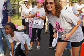People participate in a previous Paces4Pink race in Tomball to support the fight against breast cancer.