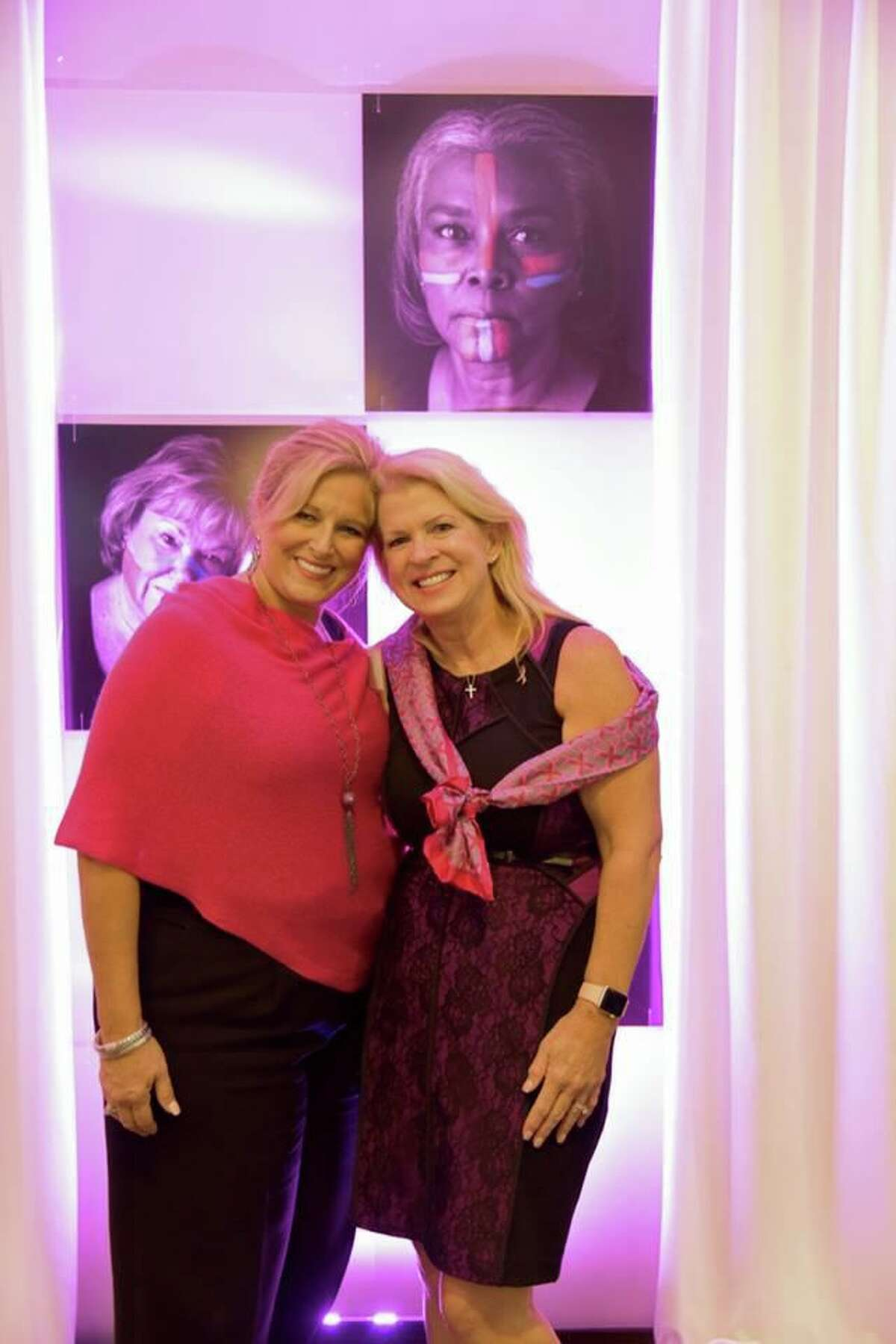 Komen Houston board member Diana Moore and team captain Mary-Anne LeBlanc pose for a photo. The 2020 Komen Houston Virtual Race for the Cure is scheduled for Oct. 3, 2020.