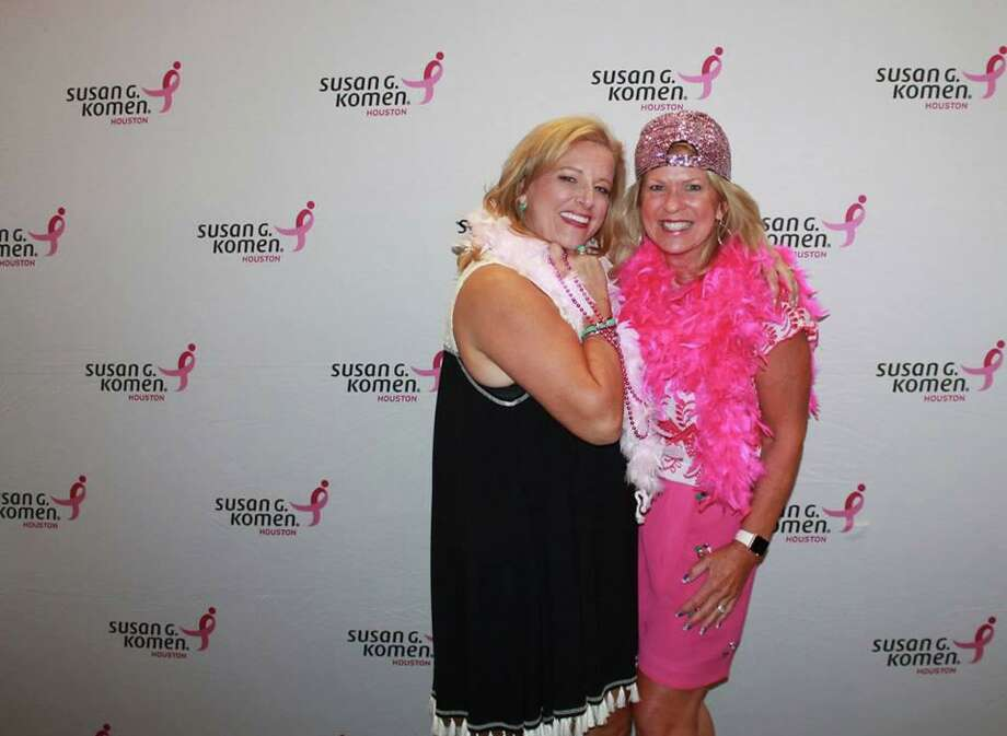 Komen Houston board member Diana Moore and team captain Mary-Anne LeBlanc pose for a photo. The 2020 Komen Houston Virtual Race for the Cure is scheduled for Oct. 3, 2020. Photo: Submitted
