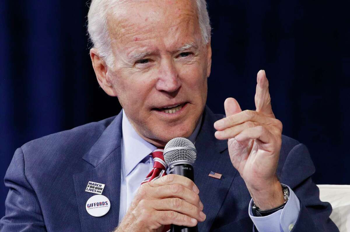 Former Vice President and Democratic presidential candidate Joe Biden speaks during a gun safety forum Wednesday, Oct. 2, 2019, in Las Vegas.