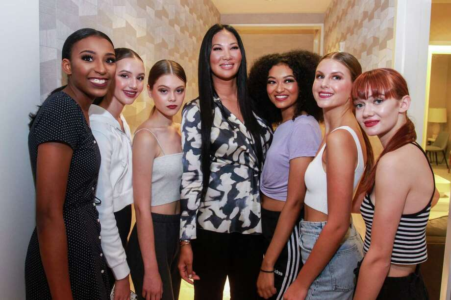 Kimora Lee Simmons, center, with models at the Fashion for Passion event at Neiman Marcus. Photo: Gary Fountain, Contributor / Copyright 2019 Gary Fountain