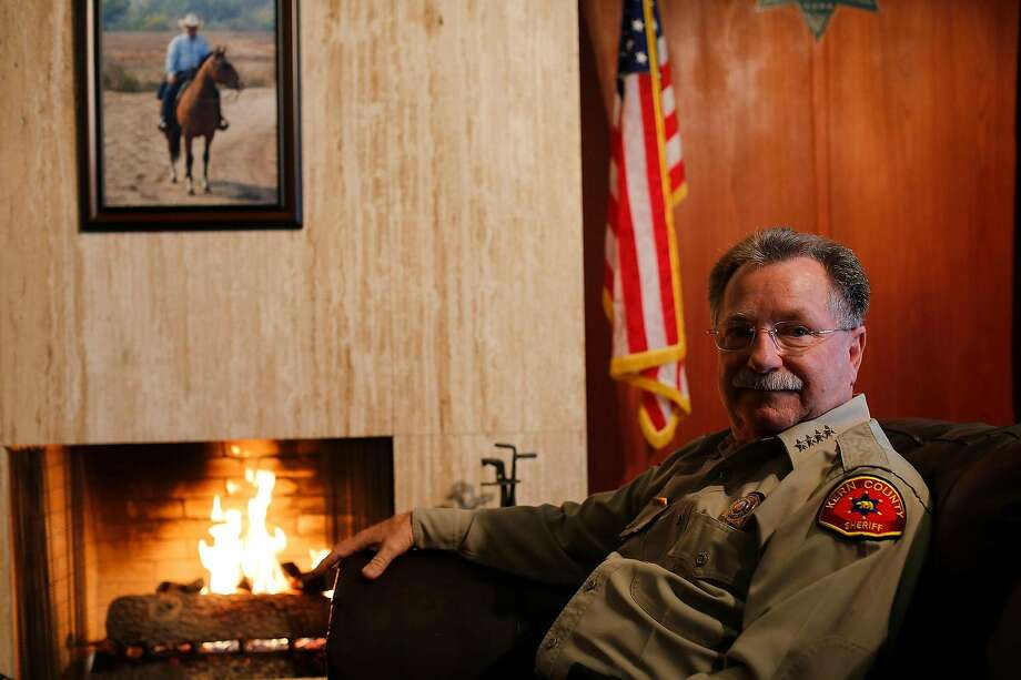 """Kern County Sheriff Donny Youngblood says jailing the homeless for drug possession and trespassing is """"obviously ... a more conservative approach."""" Photo: Michael Robinson Chavez / Los Angeles Times"""