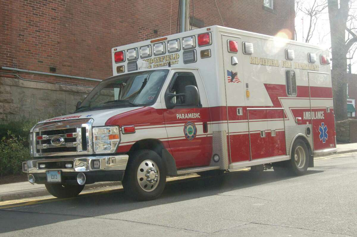Ridgefield paramedics treated one person with injuries following a three-car crash on Tuesday, Oct. 1.
