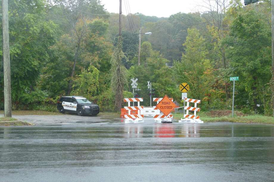 The Depot Road bridge in Branchville has been permanently closed. Photo: Stephen Coulter / Hearst