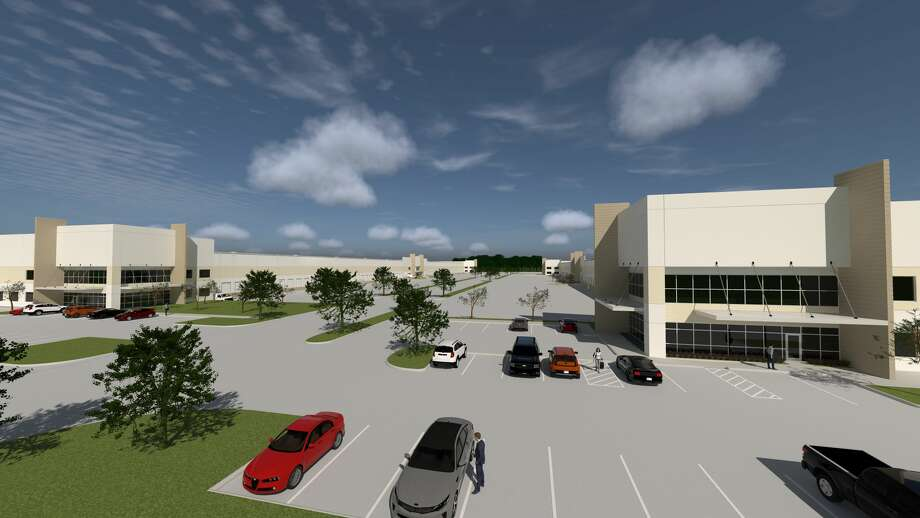 Sam Houston Distribution Center will contain 833,720 square feet of industrial distribution space at Wind Mill Park Road and Fallbrook Pines Drive in northwest Houston. Completion is planned in the second quarter of 2020. Photo: Transwestern Development Co.